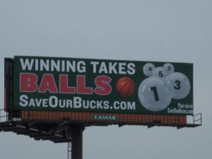 Save Our Bucks Billboard