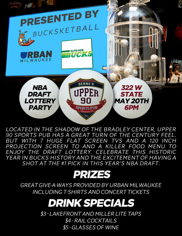 Save Our Bucks, Draft Lottery Party